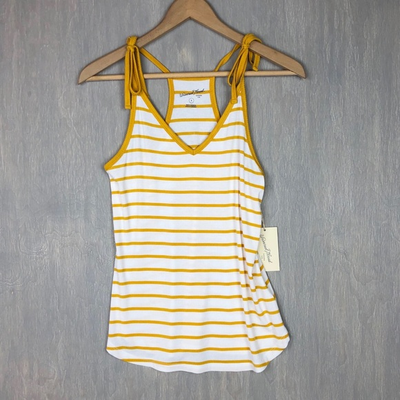 Universal Thread Tops - 🌟NWT Universal Thread ribbed stripe tank top S